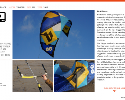 Blade Trigger 8m 2015 Kite Review by IKSURFMAG